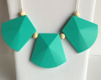 The Maria- Turquoise Teething Necklace/Nursing Necklace