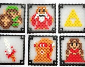 Legend of Zelda Perler Bead Coasters - Perler Bead Coasters, Perler Bead, Zelda Perler Bead, Nintendo Coasters, Legend of Zelda Coasters