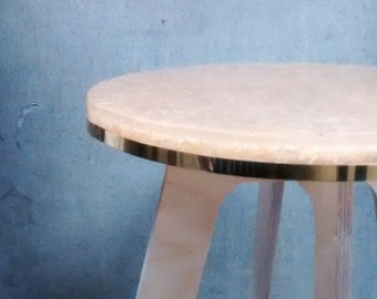 Resin Cast Stool/sidetable