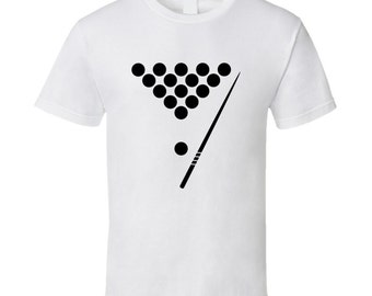 Billiards Balls And Pool Stick Cool Billiards T-shirt