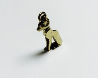 Brass Cat Pendant - 1 Piece - #435