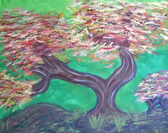 Original Acrylic Tree Painting, Tree Painting, Tree Art, 16x20 Painting