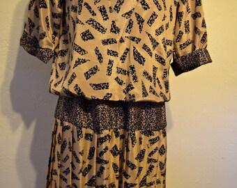 Geometric Vintage Dress