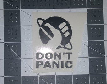 Don't Panic Decal/Sticker