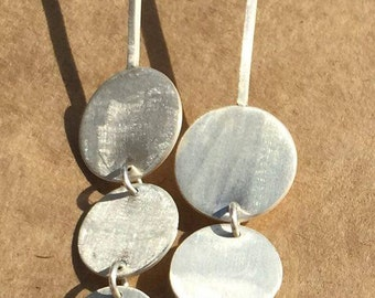 Three Circle Dangle Drop Earrings