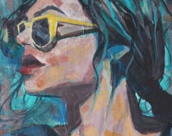 Sunglasses - Signed Print 7x5 in, 4.25x6 in, cardstock