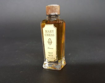 Yram Vintage Toilet Water MIni Bottle 1/4 Fluid Ounce Signature Chess Piece On Label 1934