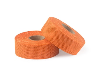 "8oz Light Orange Burlap Ribbon Roll - 10 Yards Long, 1.5"" and 3"" Widths Available, Multiple Pack Sizes Available"