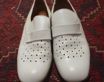 Vintage White Loafers