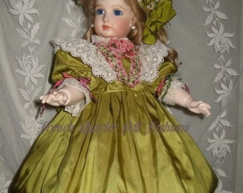 """FRENCH DRESS Pattern for 20"""" Doll Antique Style  ~ Girls Dress ~ Esabella"""