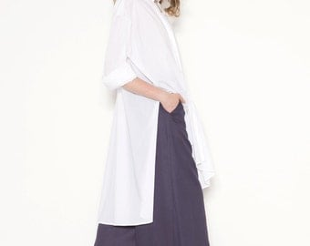 Long shirt with side splits