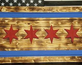Rustic Chicago Flag