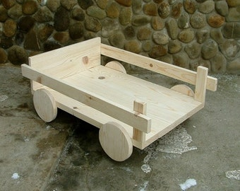 Photography prop Wagon Baby photo prop wooden wagon Bed