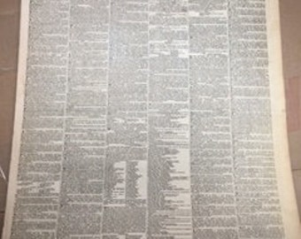 1845 London Times Newspaper - 171 Years Old