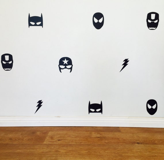 Mixed Superhero Wall Decals Removable Vinyl Wall - Superhero vinyl wall decals