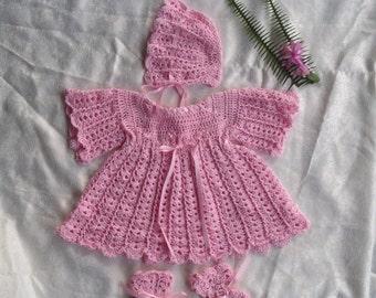 Girls Crochet Outfit 3-6 months baby Handmade