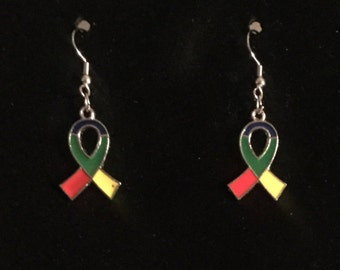 Autism Awareness Ribbon Earrings