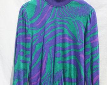 Vintage 1980's Jungle print long sleeved top