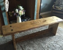 Lovely hardwood wedding bench guest book. Each handmade bench is made to order with a selection of new, reclaimed and ancient timber