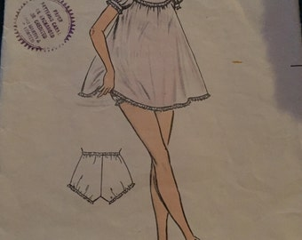"1950s Vintage Weigel's Sewing Pattern 1815 Shortie Pyjamas Bust 32"""