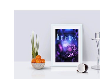 Printable Poster 8 x 10  IMAGINE