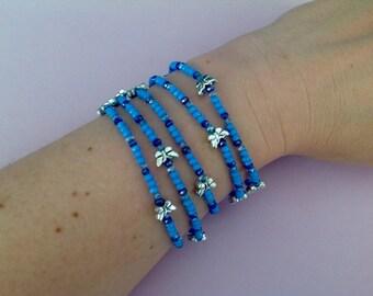Duo blue butterfly bracelets