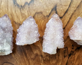 Amethyst Spirit Cactus Crystal Quartz Point- 072