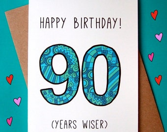 Birthday Card Etsy Jpg 340x270 Evelyn Happy 90 Years Old