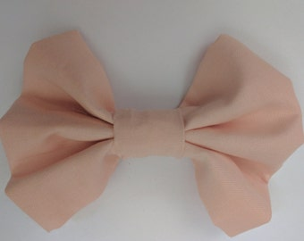 Solid Light Pink Fabric Bow