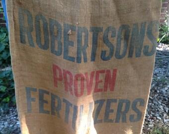 Robertsons Proven Fertilizers Burlap Sack