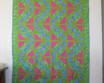 Handmade Modern Young Adult Quilt