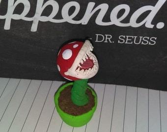 Piranha Plant Super Mario Clay Figurine
