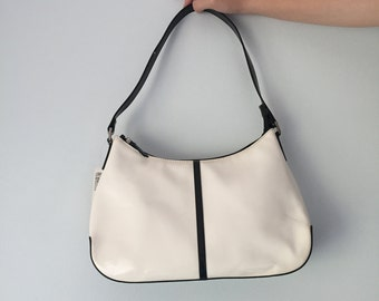 Vintage 90s Naturalizer White and Black Patent Leather Purse