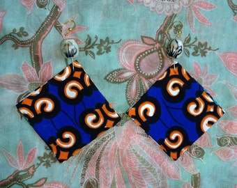 Abstract Tribal Print Double Sided Earrings