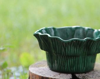 Lettuce Entertain You Vintage Miramar of California Green Ceramic Planter 1950's