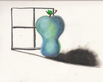 poster/print/paper blue apple pastels