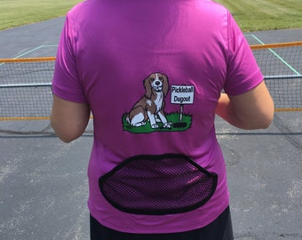 Pickleball Dugout Shirt with Back-Pocket
