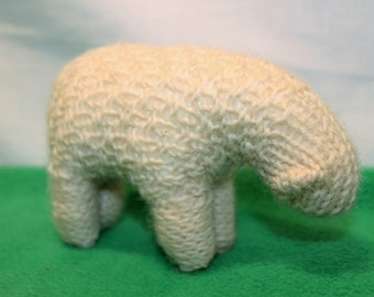 Sheep - hand knitted pure wool