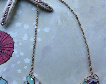 Gold & Pink Statement Necklace