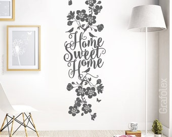 Home Sweet Home wall decals wall sticker wall sticker home family cherry blossom branch branch bleed flower flowers wall decoration living room ws18b