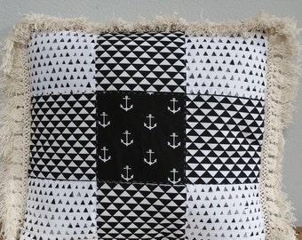 Beach & Blvd Patchwork Pillow (E)
