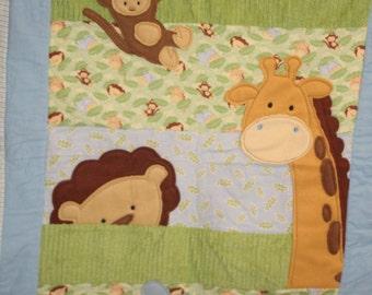 Baby Textured Jungle Quilt