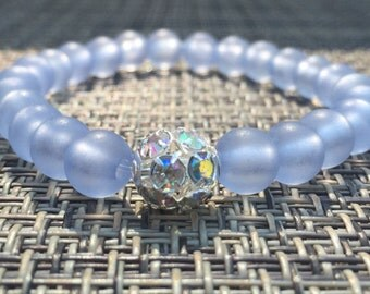Pastel Sparkle Bracelet -- Light Blue