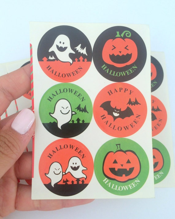Happy Halloween Tips On Home Decoration 1: Happy Halloween/Trick Or Treat/ Seal Sticker (12 Pcs)/Cute