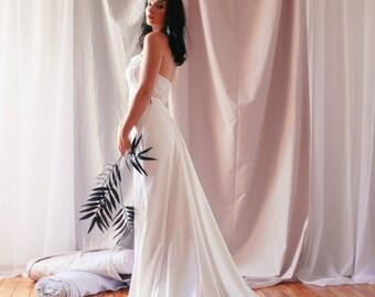Wedding Skirt, White Maxi Skirt, Silk Wedding Skirt, Bridal Separates Skirt, Romantic Wedding Skirt, Floor Skirt,Formal Skirt, Elegant Skirt