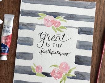Great is Thy Faithfulness 8x10 art print
