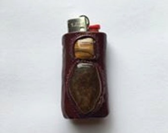 Tigers Eye Clay Lighter Case