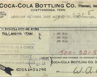 Vintage Coke Check