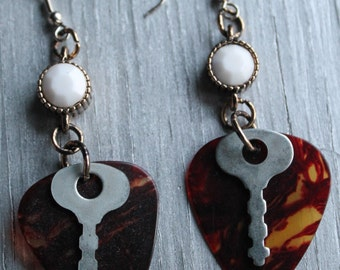 Key Guitar Pick Earrings