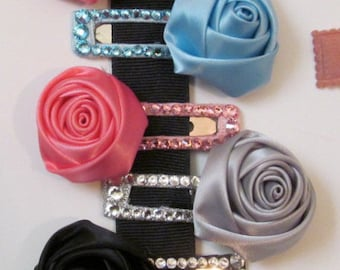 Satin Rose Clip